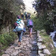 Bem estar dos carregadores na Trilha Inca