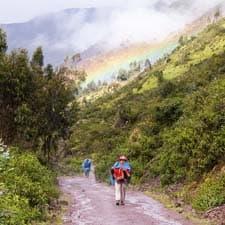 As chuvas na Trilha Inca